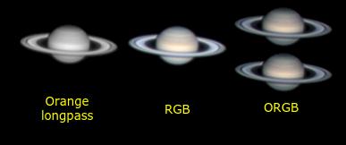 Fotografie Saturna z monochromatycznego Firefly